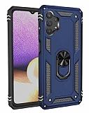 Eiroo Magnet Ring Samsung Galaxy A32 5G Ultra Koruma Mavi Kılıf