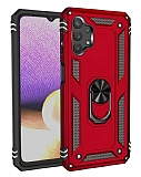 Eiroo Magnet Ring Samsung Galaxy A32 5G Ultra Koruma Kırmızı Kılıf