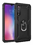 Eiroo Magnet Ring Xiaomi Mi 9 Ultra Koruma Siyah Kılıf