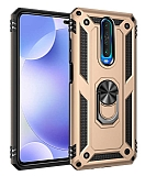 Eiroo Magnet Ring Xiaomi Poco X2 Ultra Koruma Gold Kılıf