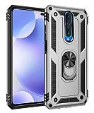 Eiroo Magnet Ring Xiaomi Poco X2 Ultra Koruma Silver Kılıf