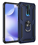 Eiroo Magnet Ring Xiaomi Poco X2 Ultra Koruma Lacivert Kılıf