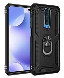 Eiroo Magnet Ring Xiaomi Poco X2 Ultra Koruma Siyah Kılıf
