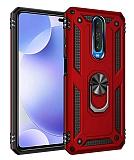 Eiroo Magnet Ring Xiaomi Poco X2 Ultra Koruma Kırmızı Kılıf