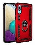 Eiroo Magnet Ring Samsung Galaxy A02 Ultra Koruma Kırmızı Kılıf