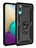 Eiroo Magnet Ring Samsung Galaxy A02 Ultra Koruma Siyah Kılıf