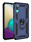 Eiroo Magnet Ring Samsung Galaxy A02 Ultra Koruma Lacivert Kılıf