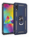 Eiroo Magnet Ring Samsung Galaxy M10 Ultra Koruma Lacivert Kılıf