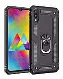 Eiroo Magnet Ring Samsung Galaxy M10 Ultra Koruma Siyah Kılıf