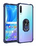 Eiroo Magnetics Huawei P Smart Pro 2019 Ultra Koruma Lacivert Kılıf