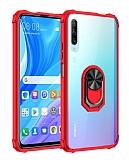 Eiroo Magnetics Huawei P Smart Pro 2019 Ultra Koruma Kırmızı Kılıf