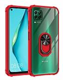 Eiroo Magnetics Huawei P40 Lite Ultra Koruma Kırmızı Kılıf