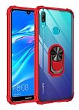 Eiroo Magnetics Huawei Y7 Prime 2019 Ultra Koruma Kırmızı Kılıf