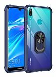 Eiroo Magnetics Huawei Y7 Prime 2019 Ultra Koruma Lacivert Kılıf