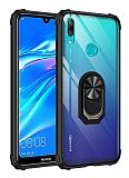 Eiroo Magnetics Huawei Y7 Prime 2019 Ultra Koruma Siyah Kılıf