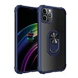 Eiroo Magnetics iPhone 12 Pro Max 6.7 inç Ultra Koruma Lacivert Kılıf