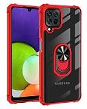 Eiroo Magnetics Samsung Galaxy A22 4G Ultra Koruma Kırmızı Kılıf