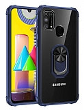 Eiroo Magnetics Samsung Galaxy M31 Ultra Koruma Lacivert Kılıf