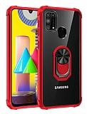 Eiroo Magnetics Samsung Galaxy M31 Ultra Koruma Kırmızı Kılıf