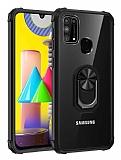 Eiroo Magnetics Samsung Galaxy M31 Ultra Koruma Siyah Kılıf