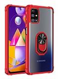 Eiroo Magnetics Samsung Galaxy M31S Ultra Koruma Kırmızı Kılıf