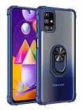 Eiroo Magnetics Samsung Galaxy M31S Ultra Koruma Lacivert Kılıf