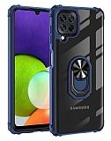 Eiroo Magnetics Samsung Galaxy M32 Ultra Koruma Lacivert Kılıf