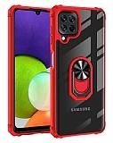 Eiroo Magnetics Samsung Galaxy M32 Ultra Koruma Kırmızı Kılıf