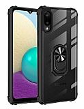 Eiroo Magnetics Samsung Galaxy A02 Ultra Koruma Siyah Kılıf
