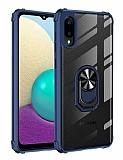 Eiroo Magnetics Samsung Galaxy A02 Ultra Koruma Lacivert Kılıf
