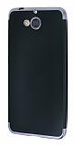 Eiroo Matte Fit Casper Via A1 Dark Silver Kenarlı Siyah Silikon Kılıf