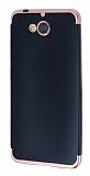 Eiroo Matte Fit Casper Via A1 Rose Gold Kenarlı Siyah Silikon Kılıf