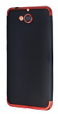 Eiroo Matte Fit Casper Via A1 Kırmızı Kenarlı Siyah Silikon Kılıf