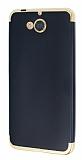 Eiroo Matte Fit Casper Via A1 Gold Kenarlı Siyah Silikon Kılıf