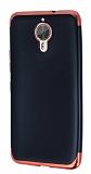 Eiroo Matte Fit General Mobile GM 5 Plus Kırmızı Kenarlı Siyah Silikon Kılıf