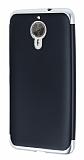 Eiroo Matte Fit General Mobile GM 5 Plus Silver Kenarlı Siyah Silikon Kılıf