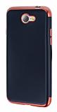 Eiroo Matte Fit General Mobile GM6 Kırmızı Kenarlı Siyah Silikon Kılıf