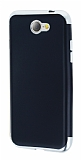 Eiroo Matte Fit General Mobile GM6 Silver Kenarlı Siyah Silikon Kılıf