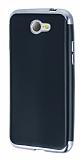 Eiroo Matte Fit General Mobile GM6 Dark Silver Kenarlı Siyah Silikon Kılıf