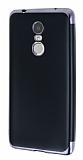 Eiroo Matte Fit Lenovo K6 Note Dark Silver Kenarlı Siyah Silikon Kılıf