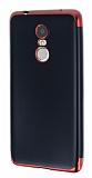 Eiroo Matte Fit Lenovo K6 Note Kırmızı Kenarlı Siyah Silikon Kılıf