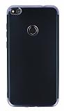 Eiroo Matte Fit Huawei P9 Lite 2017 Siyah Kenarlı Siyah Silikon Kılıf