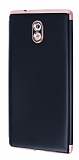 Eiroo Matte Fit Nokia 3 Rose Gold Kenarlı Siyah Silikon Kılıf