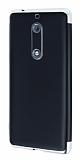 Eiroo Matte Fit Nokia 5 Silver Kenarlı Siyah Silikon Kılıf