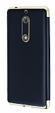 Eiroo Matte Fit Nokia 5 Gold Kenarlı Siyah Silikon Kılıf