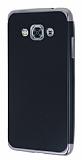 Eiroo Matte Fit Samsung Galaxy J3 Pro Dark Silver Kenarlı Siyah Silikon Kılıf