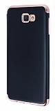 Eiroo Matte Fit Samsung Galaxy J7 Prime Rose Gold Kenarlı Siyah Silikon Kılıf