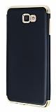 Eiroo Matte Fit Samsung Galaxy J7 Prime Gold Kenarlı Siyah Silikon Kılıf