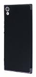 Eiroo Matte Fit Sony Xperia XA1 Ultra Dark Silver Kenarlı Siyah Silikon Kılıf