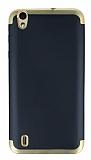 Eiroo Matte Fit Vestel Venus 5530 Gold Kenarlı Siyah Silikon Kılıf